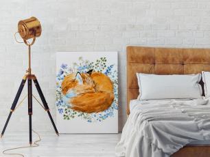 Obraz z lisem, czyli pomysł na rudy akcent w aranżacji