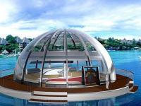 Dom pływający na baterie słoneczne