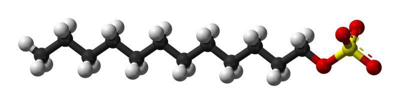 Model budowy anionu dodecylosiarczanowego