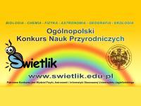 """Ogólnopolski Konkurs Nauk Przyrodniczych """"Świetlik"""""""