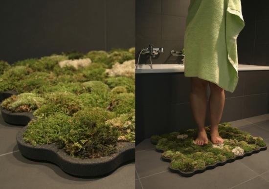Ekologia W łazience Dywan Wykonany Z Mchu