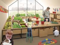 Przedszkolaki bawią się w gospodarstwo rolne