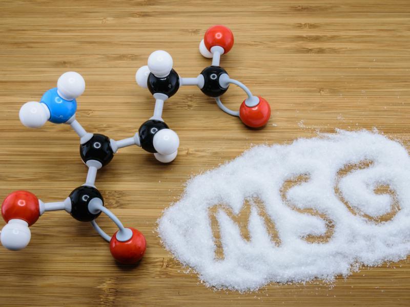 Модель молекулы глутамата натрия, фото автора shutterstock