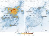 """Spadek zanieczyszczeń powietrza w Chinach """"częściowo związany"""" z koronawirusem"""