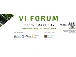 VI edycja Forum Green Smart City w pażdzierniku w Krakowie