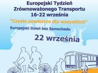 Europejski Tydzień Zrównoważonego Transportu - 16–22 września