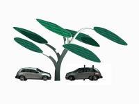 Zielony parking dla elektrycznych aut
